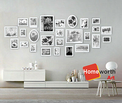 26 pcs photo picture frame wall art colletion decor valentine gift present white