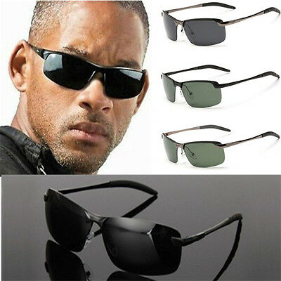 Mens New Polarized Aviator Driving Goggles Outdoor Cycling Sunglasses  UV400