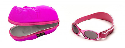 Gift pack Sunglasses case Pink Hippopotamus and Babybanz Pink Sunglasses 0-2 yea