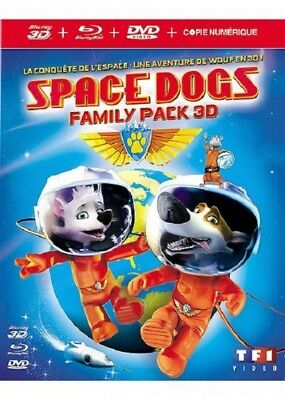 Space dogs BLU-RAY 3D + BLU-RAY + DVD NEUF SOUS BLISTER