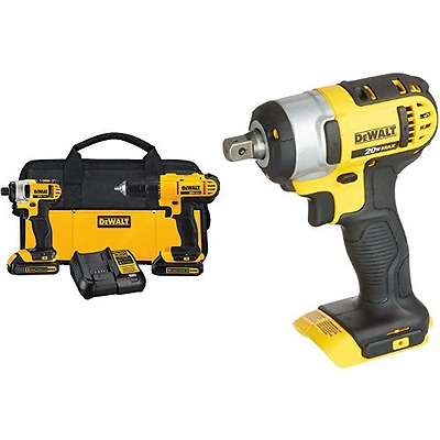 DEWALT DCF880B 20-volt Li-Ion 1/2-Inch Impact Wrench Kit with Detent Pin & DEWAL