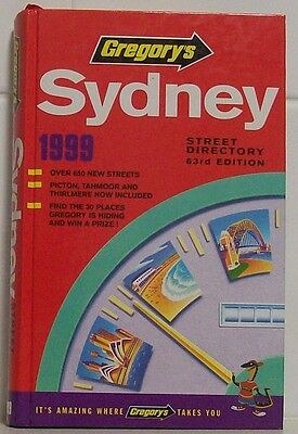 1999 Gregory's Sydney Street Directory - last year of the 1900's