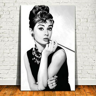 Audrey Hepburn Classic Art Print Poster Canvas Hollywood's Art Photo Painting