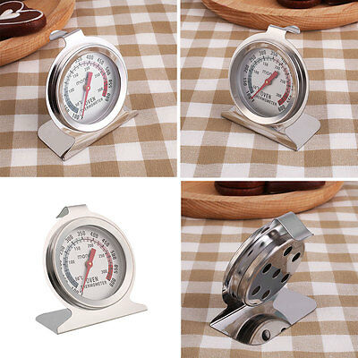 Kitchen Temperature Stand Up Pointer Oven Thermometer Gage Hot Worldwide