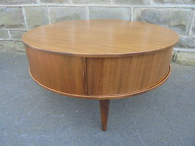 Retro 1960's Danish Teak Round Coffee Table