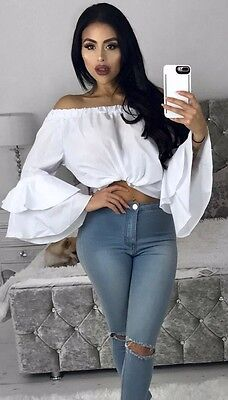 Off Shoulder Long Sleeve Fashion Summer Women Casual T-Shirt Tops Loose Blouse