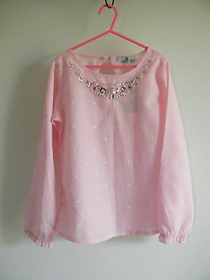 BNWT pink 'Freshbaked' girls top with jewelled neckline size 8 - $5 CLEARANCE!!
