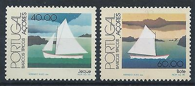 AZORES PORTUGAL 1985 SG466-467  Traditional Boats Set Mint MNH A#007