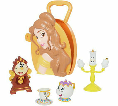 Disney Beauty & The Beast Belle Case With Lumiere, Cogsworth, Mrs Potts & Chip