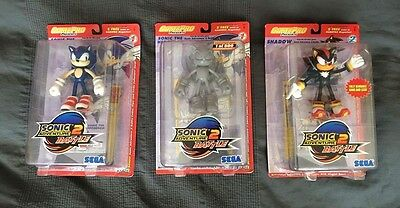 Sonic adventure 2. Sega game pro joyride set of 3 action figures Inc prototype