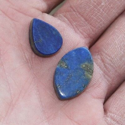 31 carats of Lapis Lazuli with Gold flecks (2 pieces)