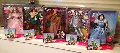 Barbie 1999 Wizard Of Oz Collectable Dolls Set Of 5-New Sealed