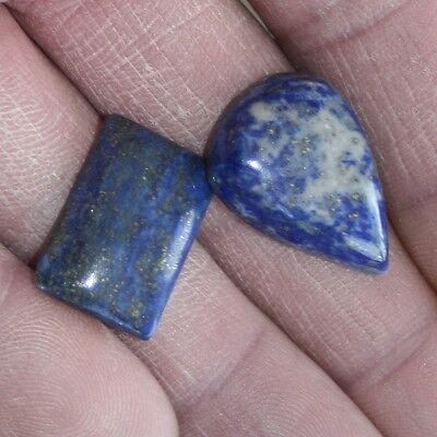 37 carats of Lapis Lazuli with Gold flecks (2 pieces)