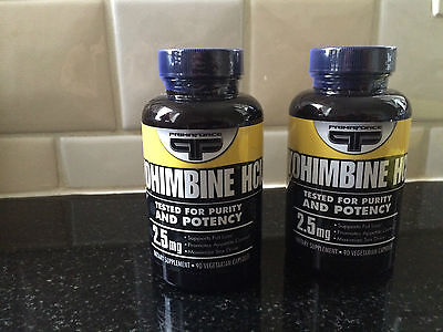 2 PCS Yohimbine primaforce hcl 2.5mg 90 caps fat burner SHIPPED FROM NETHERLANDS