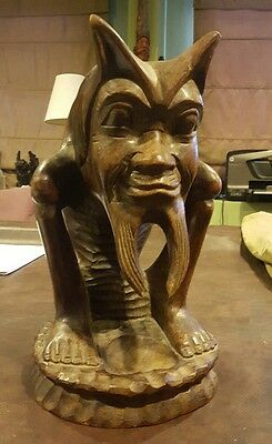 Old Wooden Carved Antique Statue Beautiful