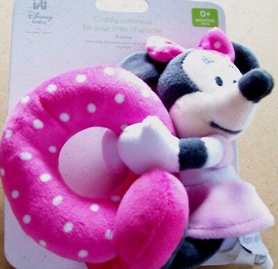 DISNEY BABY DISNEY STORE MINNIE MOUSE PLUSH RATTLE O+ Months