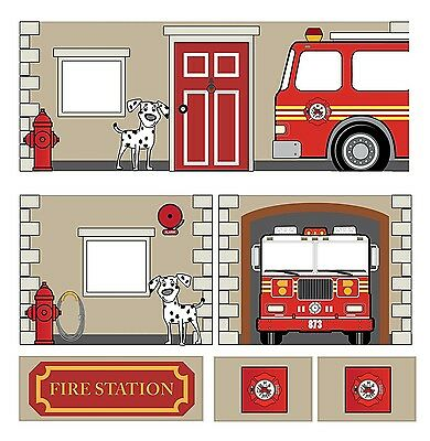 NEW Dorel Home Products Curtain Set for Junior Loft Bed Fire Department