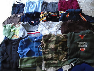 Used 25 Pc. Lot Of Baby Boy Clothes 0-6 Months Euc