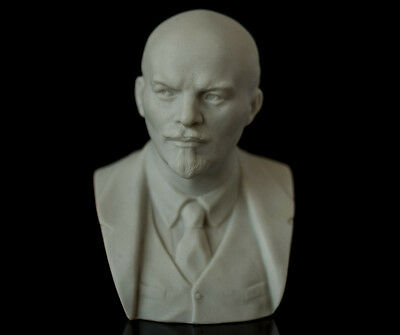 Lenin Marble Bust, USSR Leader Sculpture Russian Politician KGB Statuette