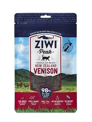 Ziwi Peak Air Dried Cat Food 400g Venison - Made in New Zealand