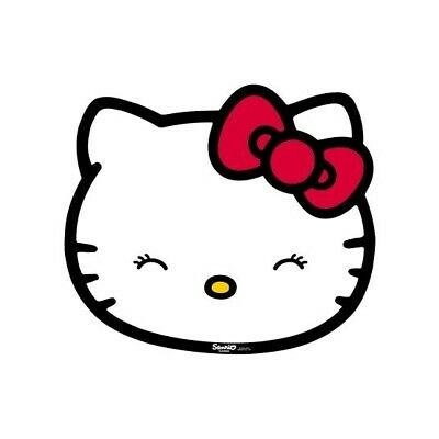 Authentic Hello Kitty Plastic Pet Bowl Feeding Mat - Easy to Clean