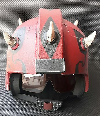 Star Wars X-Wing Pilot's Helmet.  Darth Maul Mash-Up. Cosplay or Display