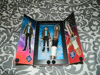 """Doctor Dr Who Eleventh Sonic Screwdriver Lights & Sound & 5.5"""" Figure In Tardis"""
