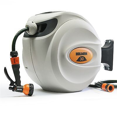 Holman 30m Retractable Hose Reel With Spray Gun