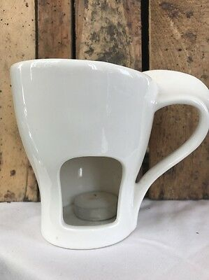 Unusual Mug Style Ceramic Tealight Candle Holder Essential Oil  / Wax Burner