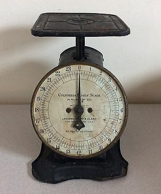 Antique 24 lb Columbia Family Scale WORKS, Landers, Frary & Clark,  Pat.1907