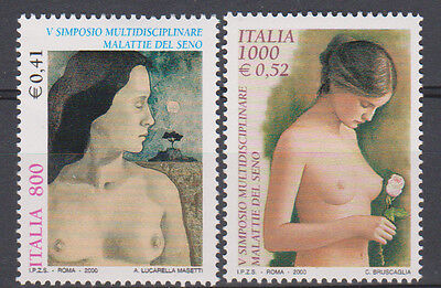 Italy 2000 Symposium on Breast Disease Set 2328-9 2 Stamps MNH
