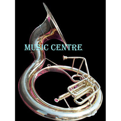 """Sousaphone Biggest Size 25"""" Bell In Brass Polish Of Pure Brass + Free Case Box"""