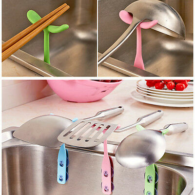 Useful Spoon Soup Ladle Shelf Storage Kitchen Tool Holder Clean High Quality