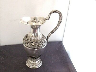 Argent Massif Rare Aiguiere Chine Du Sud Chinese Sterling Silver Inde Asie 777G.