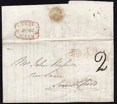 1823 entire letter Stamp Office Somerset House- handstruck 2 & T.P Gt Russell St