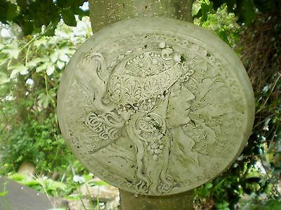 architectural Salvage,Vintage French Art Deco Wall Plaque, Garden Reclamation