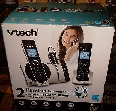 VTech DS6771-3 2 Handset Answering System with Cordless Headset NEW