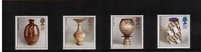 Mint 1987 Gb Studio Pottery Han Coper,lucie Rie Stamp Set Of 4 Muh Stamps