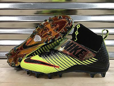 Nike LunarBeast Pro TD Football Cleats Solar Flare Volt Chrome SZ ( 853586-708 )
