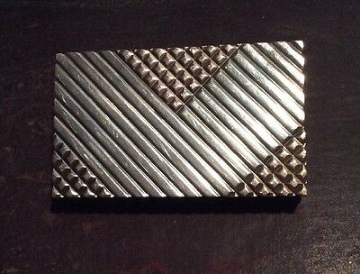 Alfred Dunhill London Sterling Silver 925 & 14k Gold Hallmarked Card Case 3 X 2""