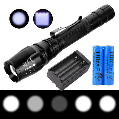 Ultrafire 15000Lumen 5 Modes XM-L T6 LED Zoomable Flashlight Torch 18650 Charger