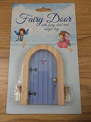 Bnib Lilac Purple Wooden Fairy Door With Fairy Dust And Magic Key