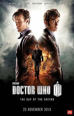 DOCTOR WHO 11x17 mini movie poster collectible BACK TO BACK
