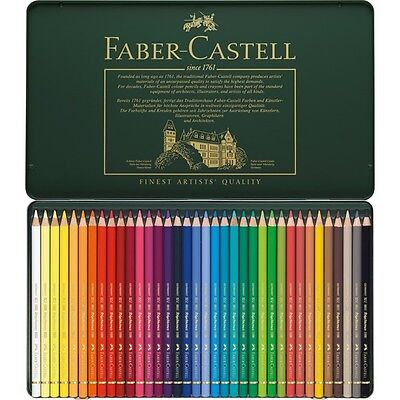FABER CASTELL POLYCHROMOS ARTISTS QUALITY COLOUR PENCILS -36 (New and Sealed)