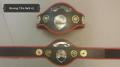 Boxing Championship Title Belts-Black ×2 (UK stock Fast delivery)
