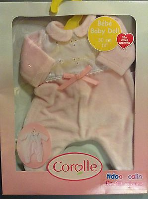 """New! Corolle Classiques Baby Doll Clothes pajamas Outfit Set 12"""" tidoo Calin"""