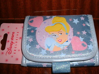 Disney Store Cinderella Girls Blue Purse Wallet BRAND NEW!