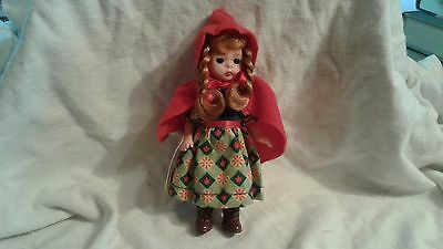 """2002 Madame Alexander McDonalds Little Red Riding Hood 5"""" Doll With Hand Tag"""