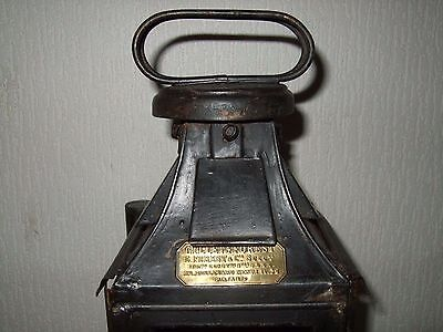 GILLET and FOREST old French lantern railway ancienne lanterne lampe rail