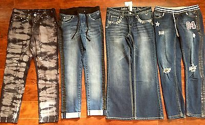 HUGE LOT GIRLS JEANS SIZE 10 1/2 Plus ALL JUSTICE Back To School 1- NWT